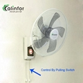 "Foshan Calinfor factory low power strong wind 16"" wall fan"
