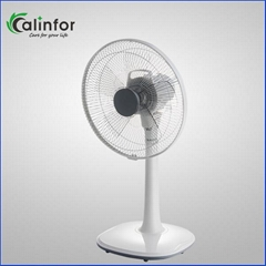 Calinfor new grey color 14 inch height ajustable table & stand fan
