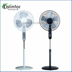 Calinfor black & white low power stand fan with remote control