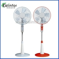 Calinfor special red & white color electric stand fan with timer