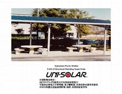 5-KW Solar Suburban Picnic Shelter