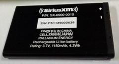 SiriusXM Lynx 電池 SX-6900-0010