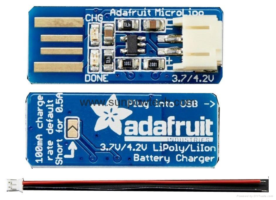 Adafruit Micro Lipo USB Battery Charger  5203