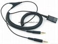 Plantronics QD to Dual 3.5mm Cable for Plantronics H & HW series Headsets 28959-