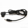 PowerTap to DC2.5 Power Cable for Blackmagic Camera