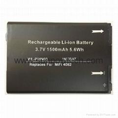 Novatel MiFi 4082無線路由器電池40115118.001