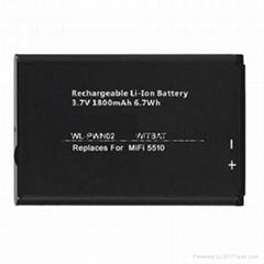 Novatel MiFi 5510無線路由器電池40115126-001