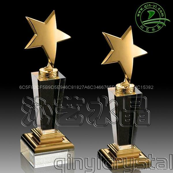 水晶金屬獎杯 2