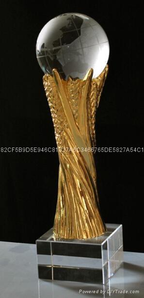 水晶金屬獎杯 3