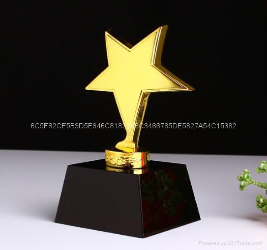 水晶金属奖杯 4