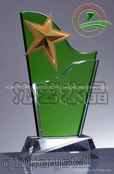 水晶金属奖杯 2