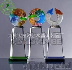 供应水晶奖牌奖杯