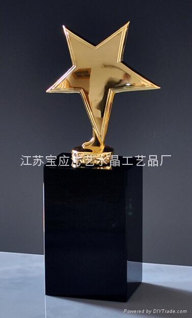 水晶金屬獎杯 4