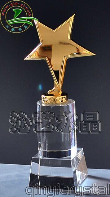 水晶金属奖杯 5