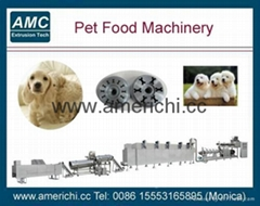 Extruded pet dog snack food processing line
