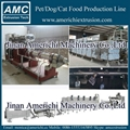 Pet food extruder with steam boiler