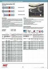 供應 德國曼卡特8.8級鍍鋅鋼型號SZ-S 套管型抗震動自切