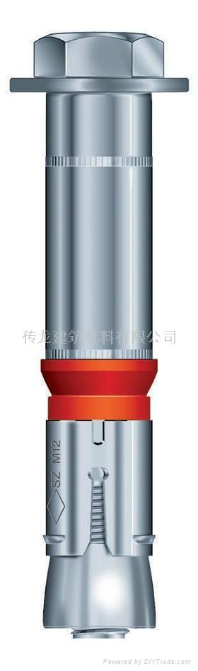 供應 德國曼卡特8.8級鍍鋅鋼型號SZ-S 套管型抗震動自切底錨栓 3