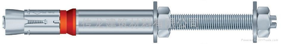 供應 德國曼卡特8.8級鍍鋅鋼型號SZ-S 套管型抗震動自切底錨栓 4