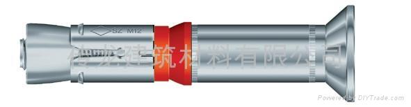 供應 德國曼卡特8.8級鍍鋅鋼型號SZ-S 套管型抗震動自切底錨栓 5