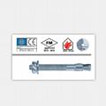 現貨供應8.8級鍍鋅鋼材料品牌MKT曼卡特規格12x220 高強錨固螺栓型錨栓 3