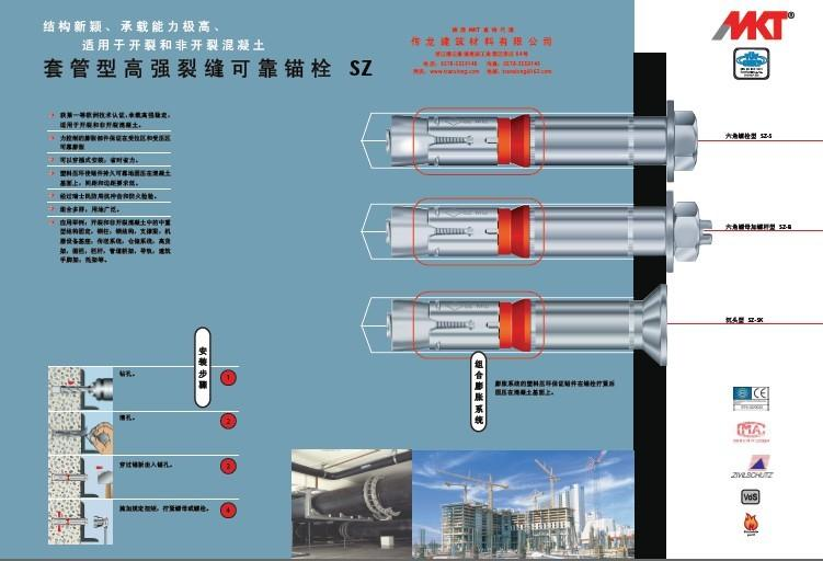 現貨供8.8級型號SZ-S 18x147套管式抗震動切底錨栓 3