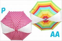 the girl`s umbrella