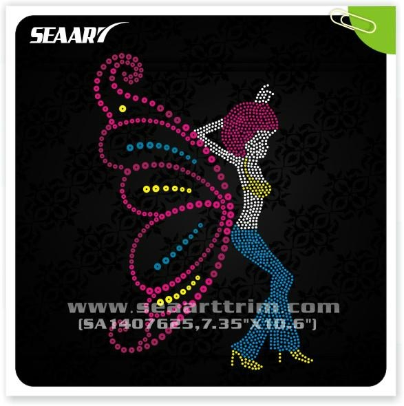 custom rhinestone designs for t shirt,hot fix transfers 1