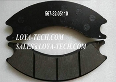 567-32-05111  567-32-05110 - BRAKE PAD KIT - SUIT KOMATSU HD205-3 - LOYA TECH