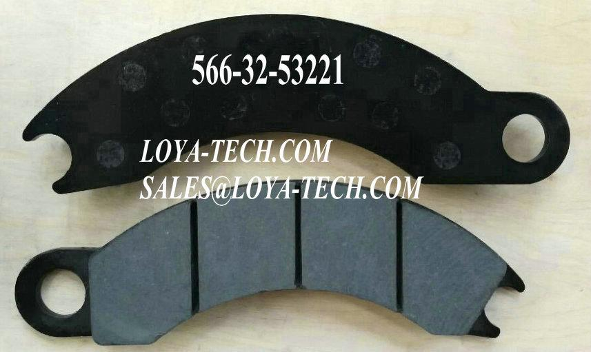 566-32-53220  566-32-53221- BRAKE PAD KIT - SUIT KOMATSU 330M HD325-6 - LOYA  TECH