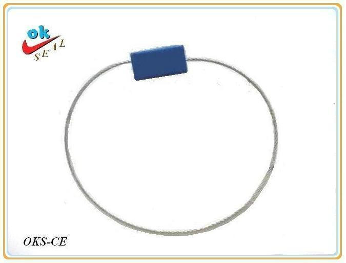 長方形E型鋼絲封(抽緊式)防盜集裝箱封鎖,貨櫃鎖 1