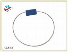 長方形E型鋼絲封(抽緊式)防盜集裝箱封鎖,貨櫃鎖