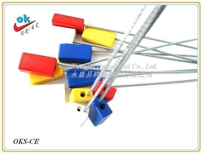 長方形E型鋼絲封(抽緊式)防盜集裝箱封鎖,貨櫃鎖 2