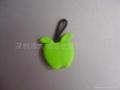 PVC苹果钥匙拉牌