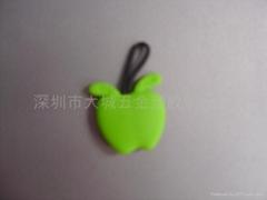 PVC蘋果鑰匙拉牌