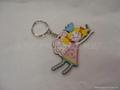 PVC塑胶钥匙挂牌,软胶钥匙扣