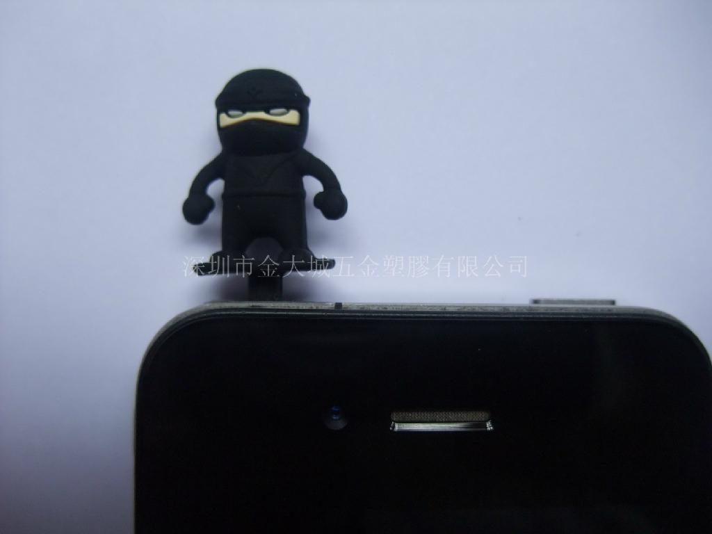 矽胶卡通公仔耳机防尘塞 1