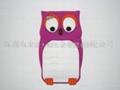 香港自定生產硅膠貓頭鷹手機套 iphone手機套 1