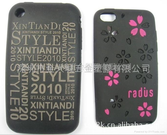 香港自定生產硅膠貓頭鷹手機套 iphone手機套 2