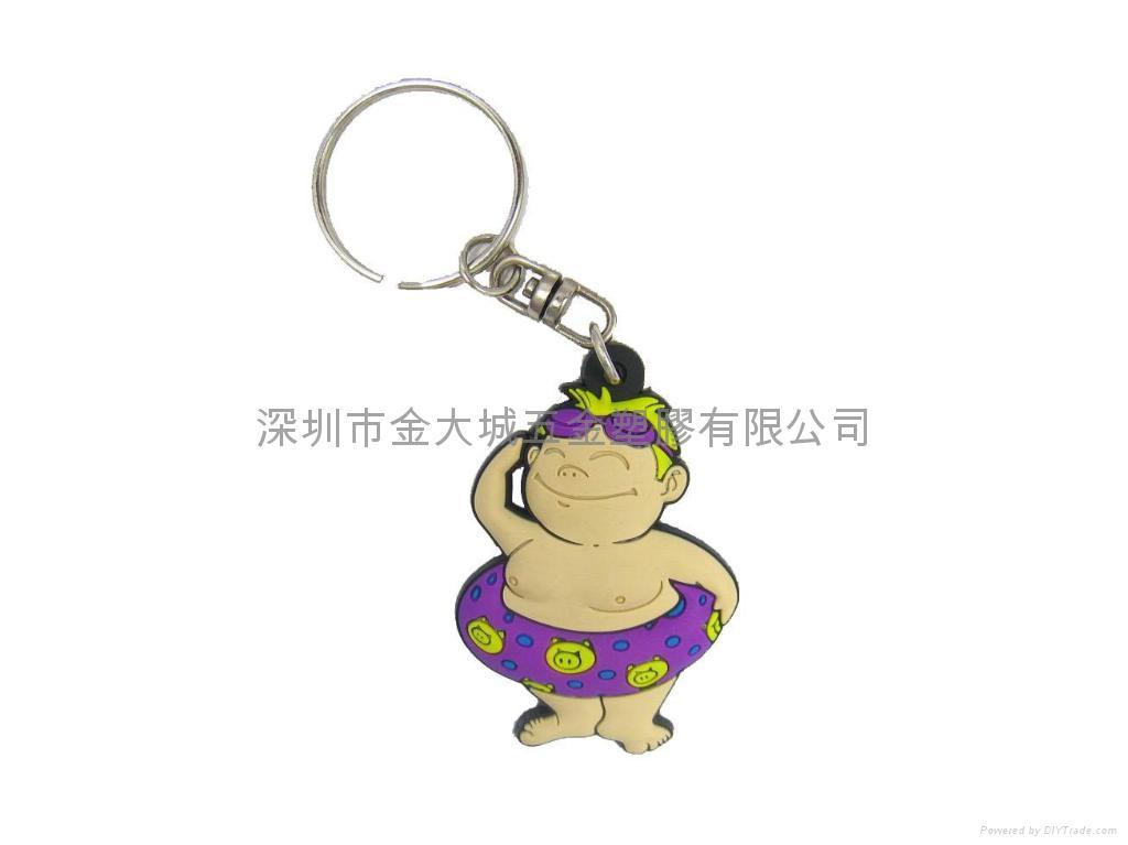 深圳香港PVC橡膠鑰匙圈生產廠家 1