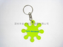 PVC塑膠鑰匙圈(雙面)