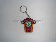 软胶球衣钥匙圈(双面)
