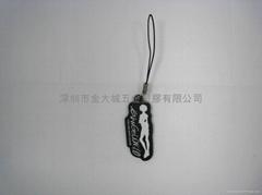 PVC軟膠手提電話掛飾,塑料手機掛件