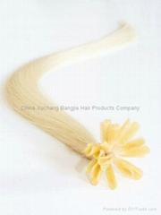 pre bonded hair extension U tip hair extension nail tip keratin hair extension