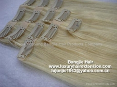 Clip-in skin weft hair extension