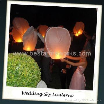wedding sky lantern 1