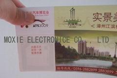 RFID UHF HF E ticket Paper Card