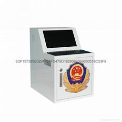 19寸觸摸屏帶鍵盤一體式執法儀採集站