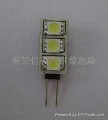 G4灯 G4 LED 灯泡 -5050-3SMD