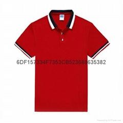 深圳红色T恤衫现货